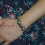 silver-lookalike-brass-oxidised-boho-statement-motif-bangle-adjustable-5