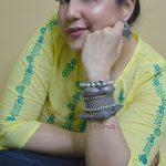 Silver Lookalike Brass Oxidised Minimal Boho Bangle – Adjustable