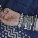 Silver Lookalike Brass Oxidised Round Jaali Boho Bangle – Adjustable