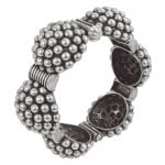 Silver Lookalike Brass Oxidised Statement Boho Bangle – Adjustable Main Image