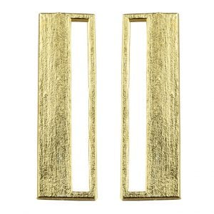 Gold Plated Brass Statement Minimal Earrings Main Image