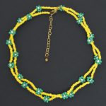 hand-beaded-minimal-statement-necklace-green-and-yellow-bloom-6