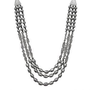 Oxidised Silver Stylish Statement Choker Necklace Main Image