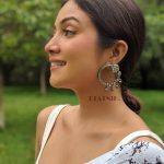 Silver Lookalike Brass Oxidised Minimal Statement Stud Earrings