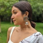 Silver Lookalike Brass Oxidised Statement Jhumki Earrings – Blossom